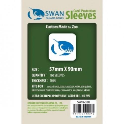 Sleeves: 57x90mm Swan PanAsia  Std USA (160 per pack)