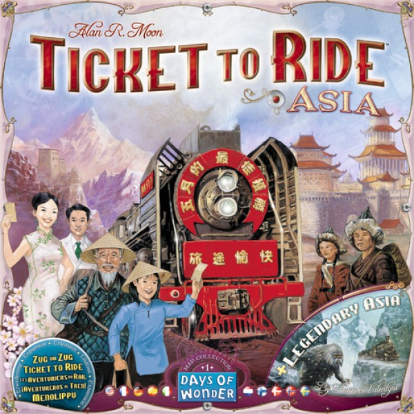 Ticket To Ride Map Collection Volume 1 Asia Expansion